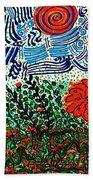 Wild Flowers Under Wild Sky Beach Towel