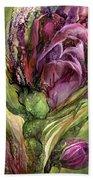 Wild Garden Tulips Beach Towel