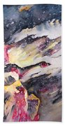 Wild Geese Flying In A Snow Storm Beach Towel