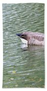 Wild Geese On A Lake 6 Beach Towel