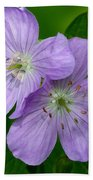Wild Geranium Beach Towel