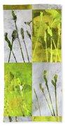 Wild Grass Collage 3 Beach Towel