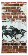 Wild Horses Running  Beach Towel