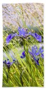 Wild Irises Beach Towel by Marty Saccone