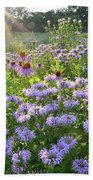 Wild Mints And Coneflowers Beach Towel