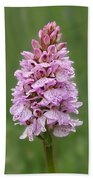 Wild Pink Spotted Orchid Beach Towel