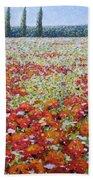 Wild Poppies Beach Towel