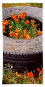 Wild Poppies Recycled Beach Towel