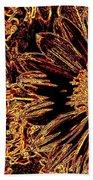 Wild Sunflower Abstract Beach Towel
