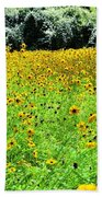 Wild Sunflowers Beach Towel