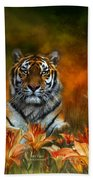 Wild Tigers Beach Towel