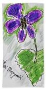 Wild Violet  Beach Towel