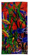 Wild Water In Red Beach Towel