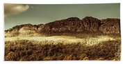 Wild West Mountain Panorama Beach Sheet