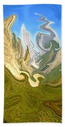 Wild Yosemite - Abstract Modern Art Beach Towel