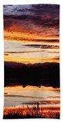 Wildfire Sunset Reflection Image 28 Beach Sheet