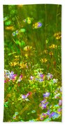 Wildflower Field Beach Towel