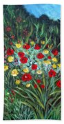 Wildflower Garden 1 Beach Towel
