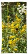 Wildflowers And Bee Beach Towel