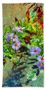 Wildflowers And Rocks Beach Towel
