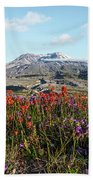 Wildflowers At Mount St Helens Beach Towel