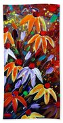Wildflowers At Sunset Beach Towel