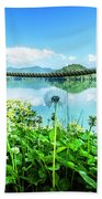 Wildflowers At The Lake In Spring Beach Towel