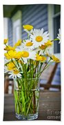Wildflowers Bouquet At Cottage Beach Towel by Elena Elisseeva