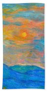 Wildflowers By A Blue Ridge Sunset Beach Towel