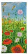 Wildflowers Field Beach Towel