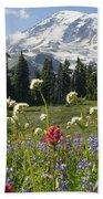 Wildflowers In Mount Rainier National Beach Towel