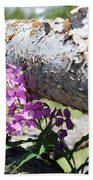 Wildflowers On The Fence Beach Towel