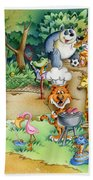 Wildlife Party Beach Towel