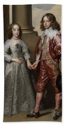 William II, Prince Of Orange, And His Bride, Mary Stuart Beach Towel