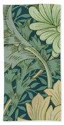William Morris Wallpaper Sample With Chrysanthemum Beach Towel