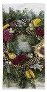 Williamsburg Wreath 10b Beach Towel