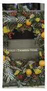 Williamsburg Wreath 18 Beach Towel