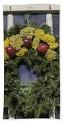 Williamsburg Wreath 25 Beach Towel