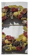 Williamsburg Wreath 29 Beach Towel