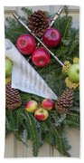Williamsburg Wreath 87 Beach Towel
