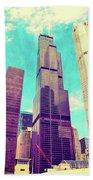 Willis Tower - Chicago Beach Towel