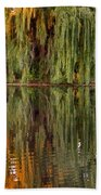 Willow Reflection Beach Towel