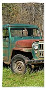 Willys Jeep Pickup Truck Beach Towel