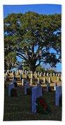 Wilmington National Cemetery Christmas Beach Towel