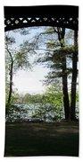 Wilson Pond Framed Beach Towel