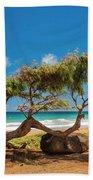 Wind Blown Tree Beach Towel by Brian Harig