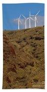 Wind Generators-signed-#0368 Beach Towel