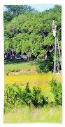 wind mill N weeds Beach Towel