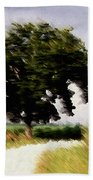 Wind Motif Old Dam Road Beach Towel