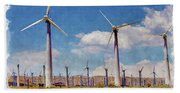 Wind Power Beach Towel